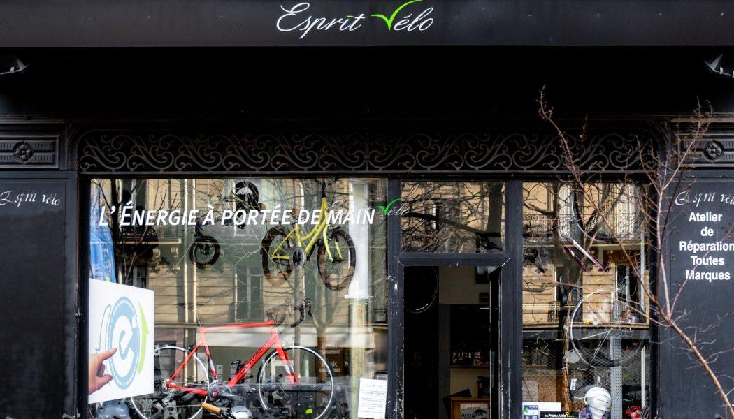 Esprit vélo Paris Devanture Magasin