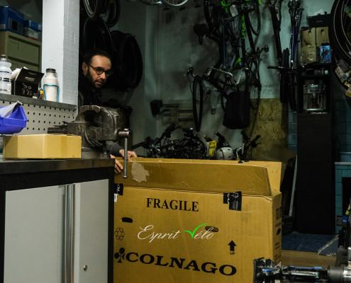 Colnago CRS ultegra préparation Esprit vélo Paris