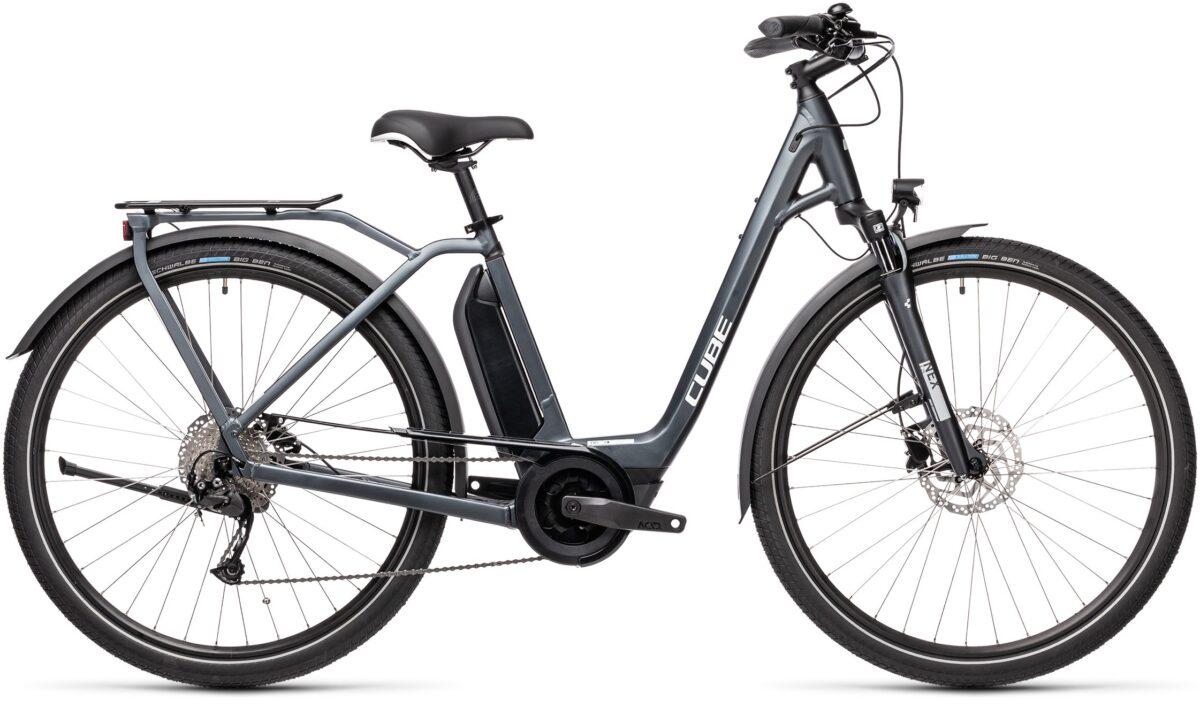 Cube TOWN SPORT HYBRID ONE 400 Iridium'n'grey Esprit vélo