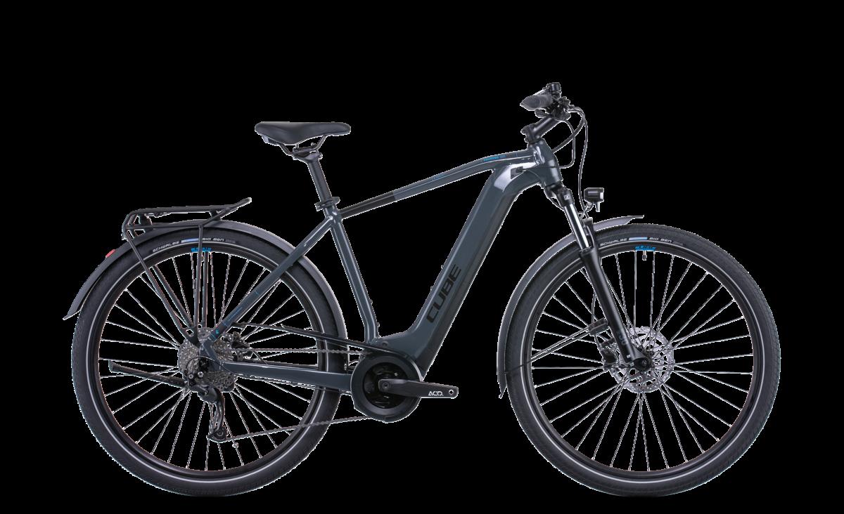 Cube Touring Hybrid One 400 Grey Esprit vélo Paris 13