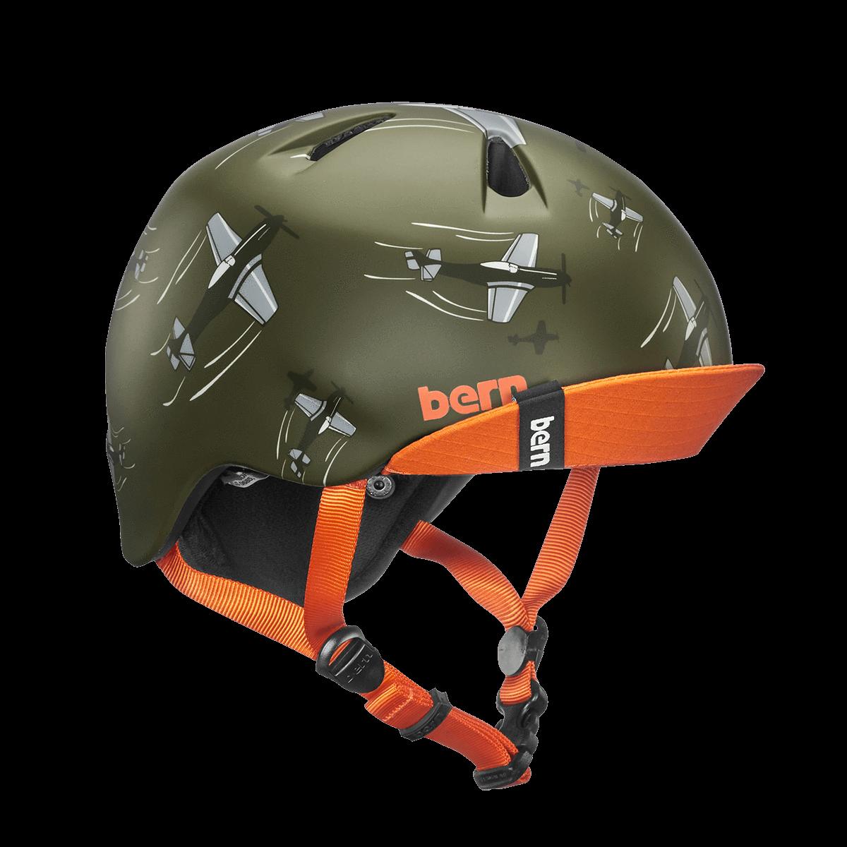 Casque Bern Nino-Matte-Green-Dogfight-Esprit vélo