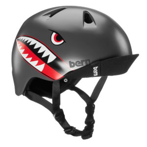 Catalogue Casque Bern Nino-Satin-Grey-Flying-Tiger-Esprit vélo