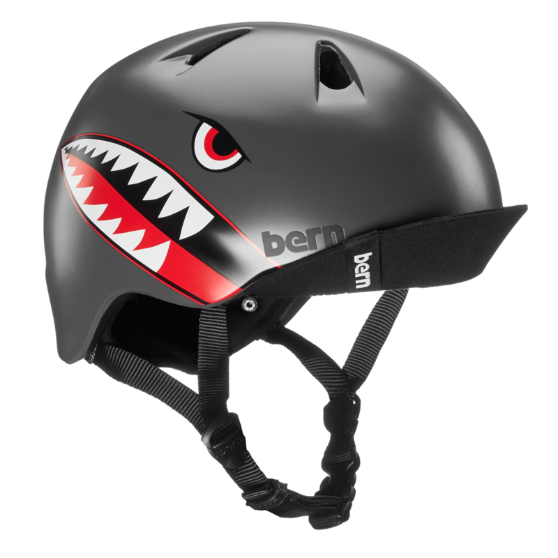 Casque Bern Nino-Satin-Grey-Flying-Tiger-Esprit vélo