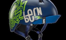 Casque bern Nino-Satin-Navy-Blue Esprit vélo