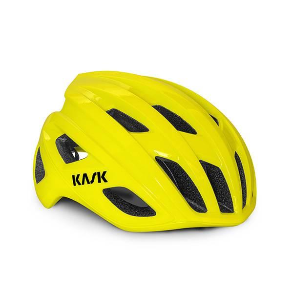 Casque kask morito 3 yellow fluo Esprit vélo