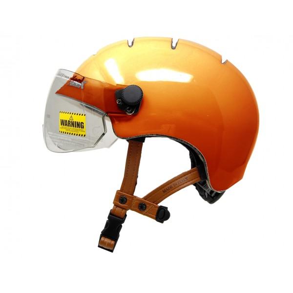 Casque kask urban lifestyle orange Esprit vélo