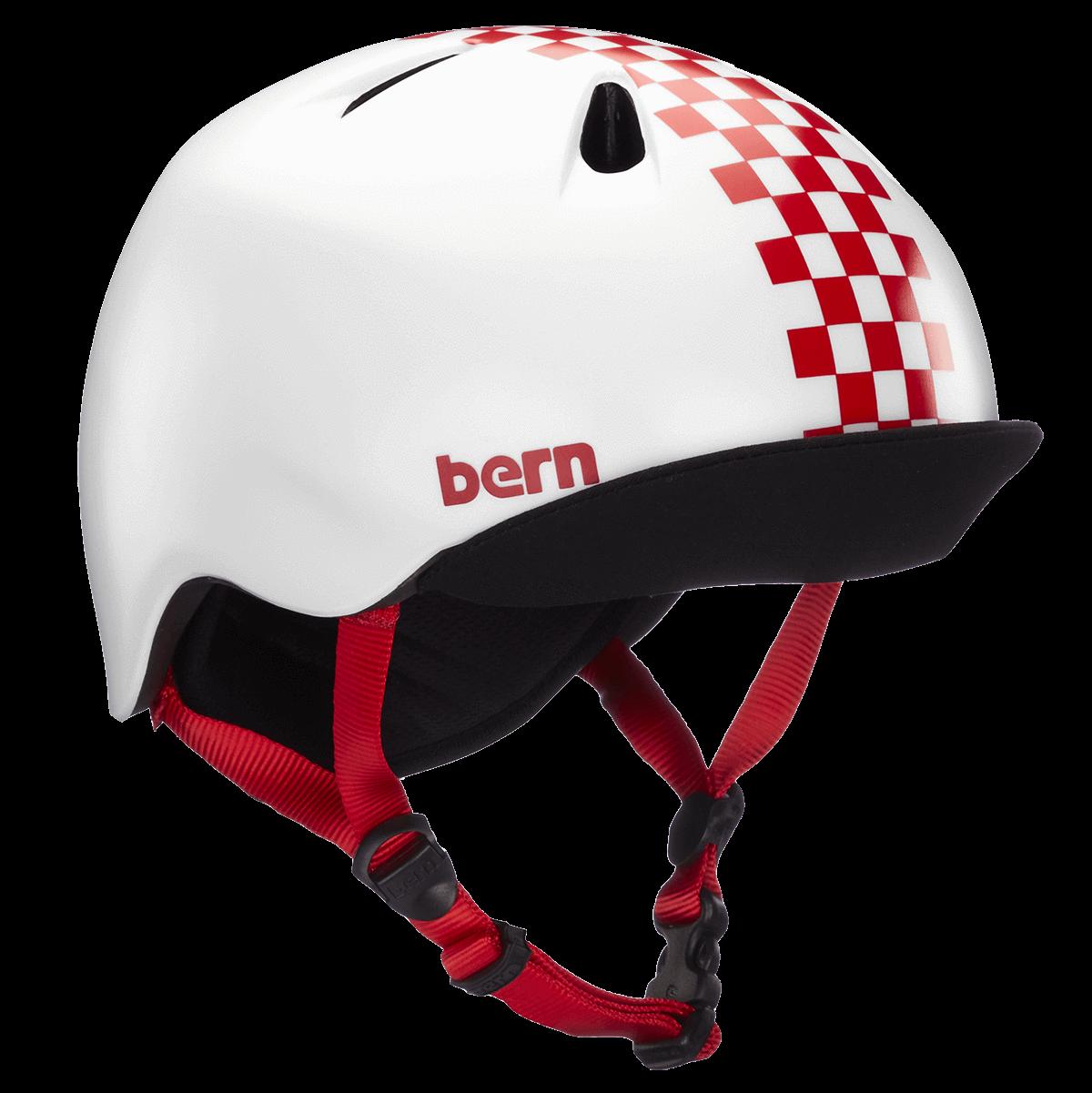 Casque Bern Nina-Satin-Red-Checkers-Esprit vélo
