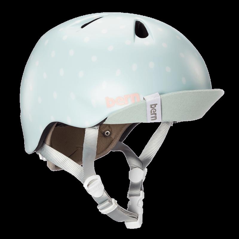 Casque Bern Nina-Satin-Seaglass-Polka-Esprit vélo
