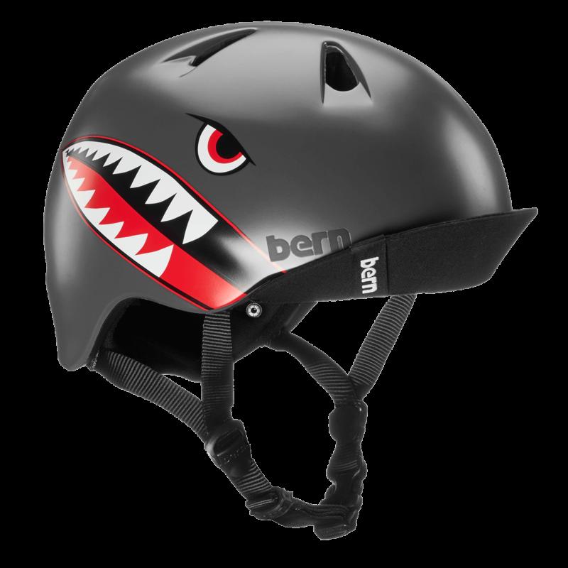 Casque Bern Nino-Satin-Grey-Flying-Tiger-Esprit vélo